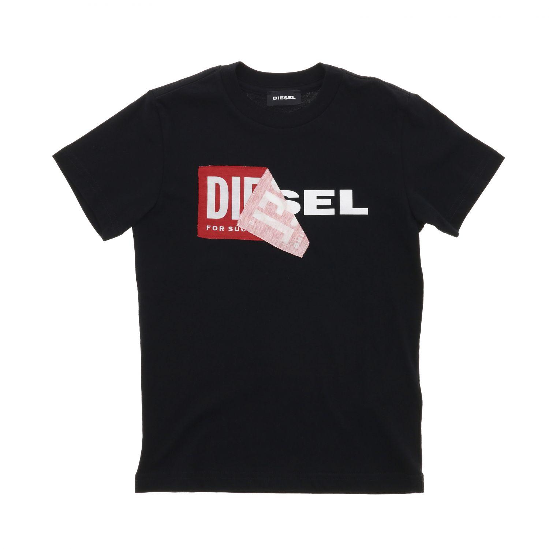T-shirt Diesel: T-shirt Diesel a maniche corte con logo nero 1