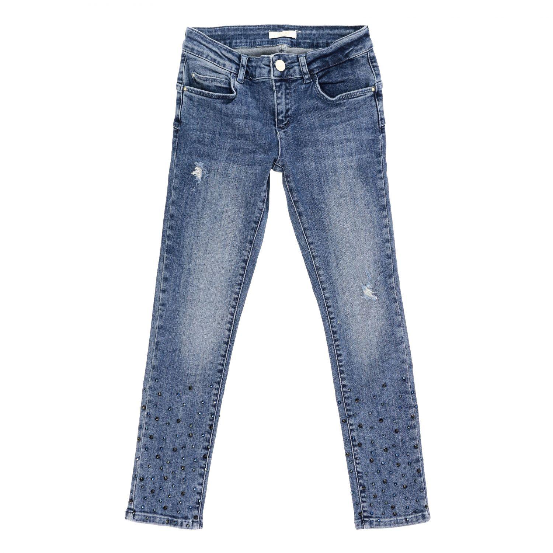 Liu Jo 水钻装饰做旧效果牛仔裤 牛仔布 1