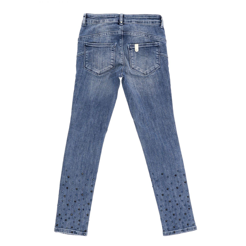 Liu Jo 水钻装饰做旧效果牛仔裤 牛仔布 2