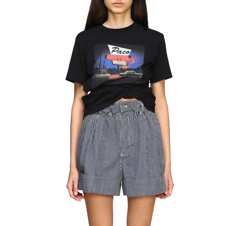 T-shirt women Paco Rabanne black 1