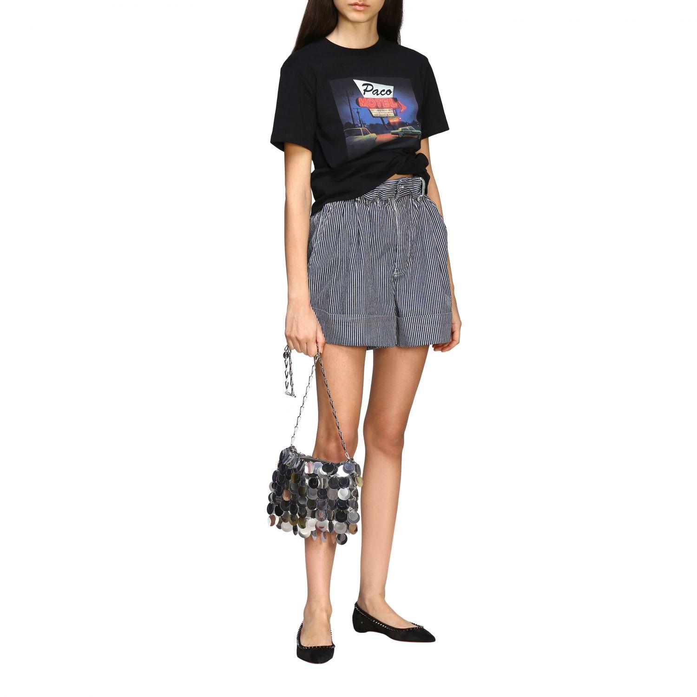 T-shirt women Paco Rabanne black 2