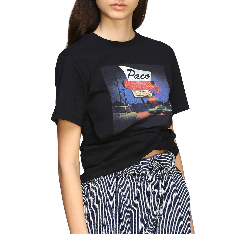 T-shirt women Paco Rabanne black 5