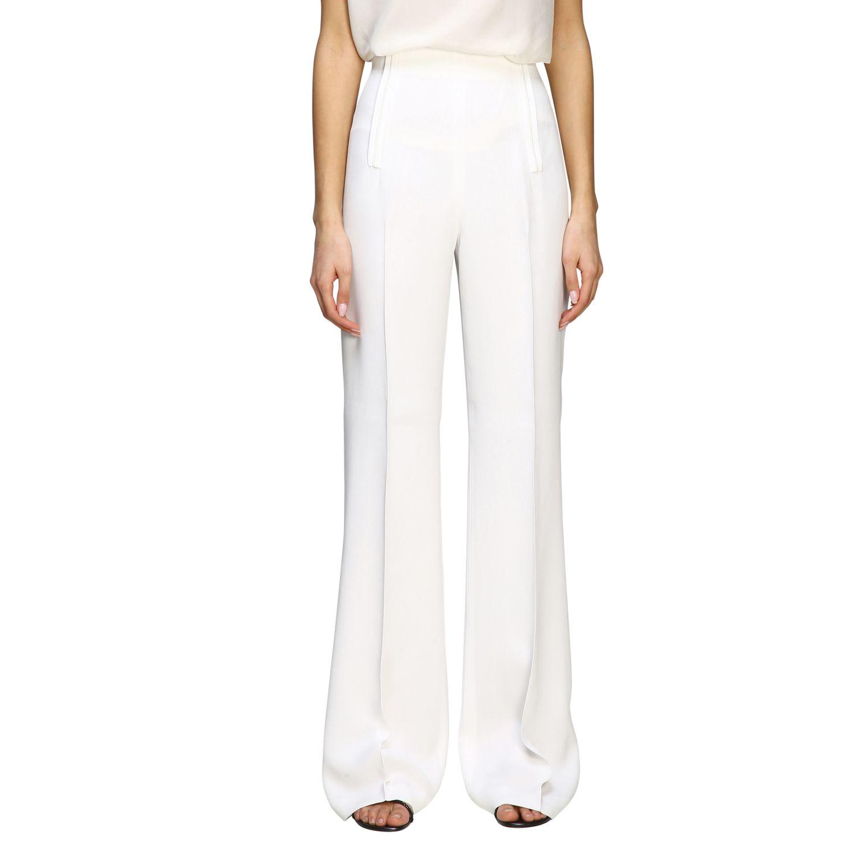 Pants Alberta Ferretti: Alberta Ferretti high waist trousers white 1
