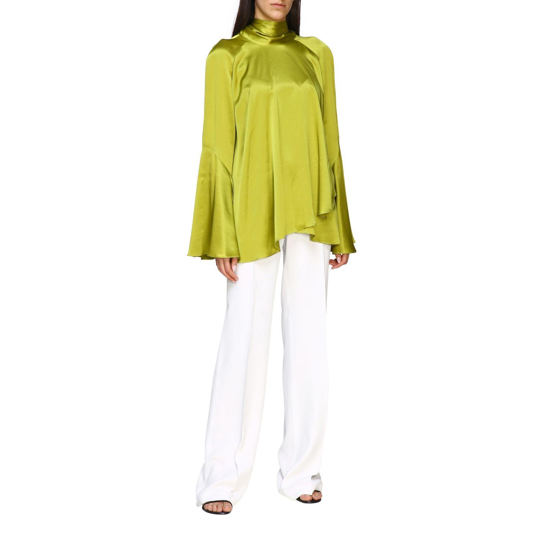 Pants Alberta Ferretti: Alberta Ferretti high waist trousers white 2