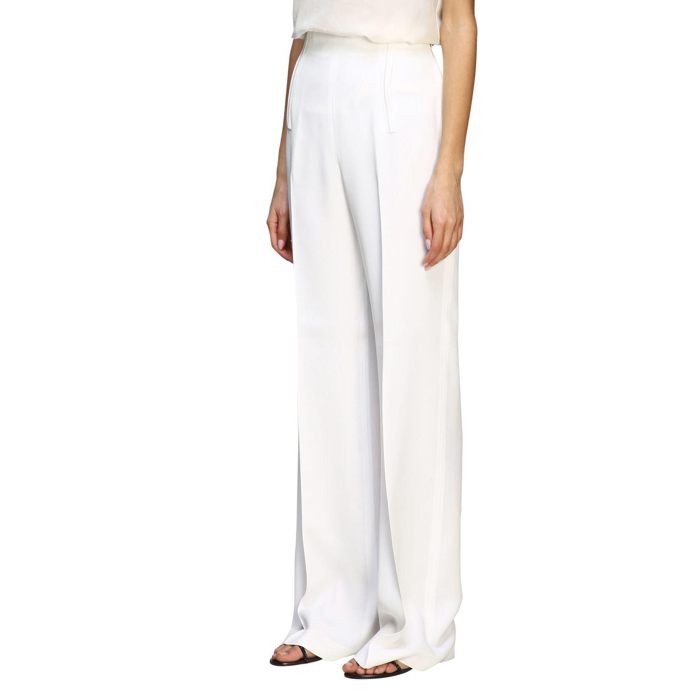 Pants Alberta Ferretti: Alberta Ferretti high waist trousers white 4
