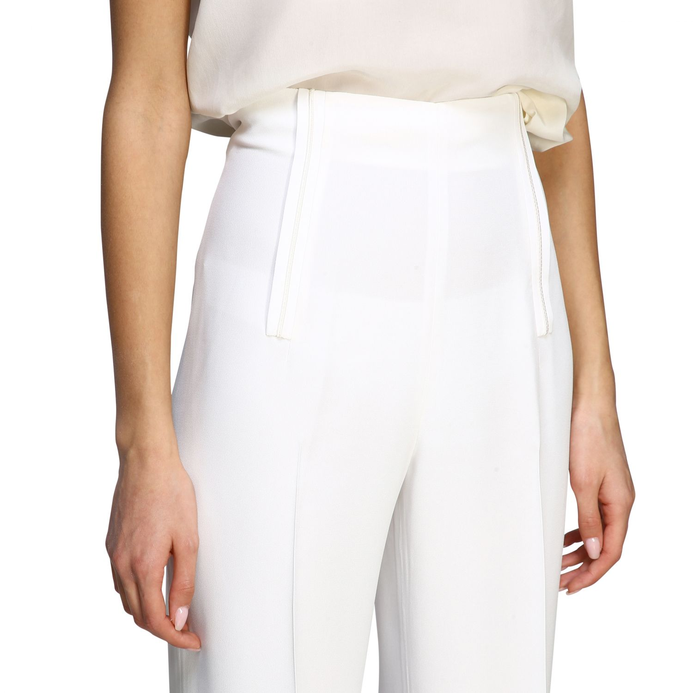 Pants Alberta Ferretti: Alberta Ferretti high waist trousers white 5