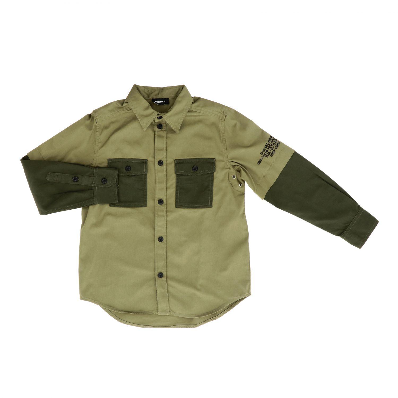 Shirt kids Diesel green 1