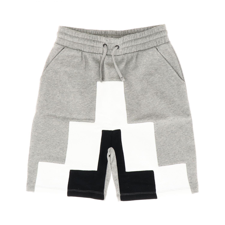 Pantaloncino Marcelo Burlon: Pantaloncino Marcelo Burlon jogging con big stampa grigio 1
