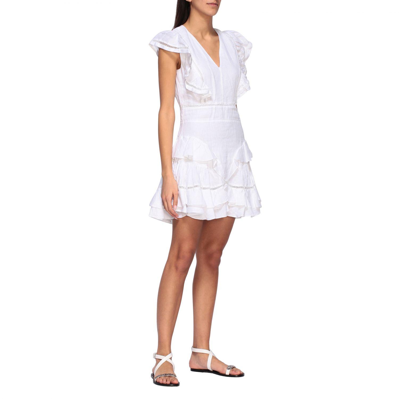 Kleid damen Isabel Marant Etoile weiß 1