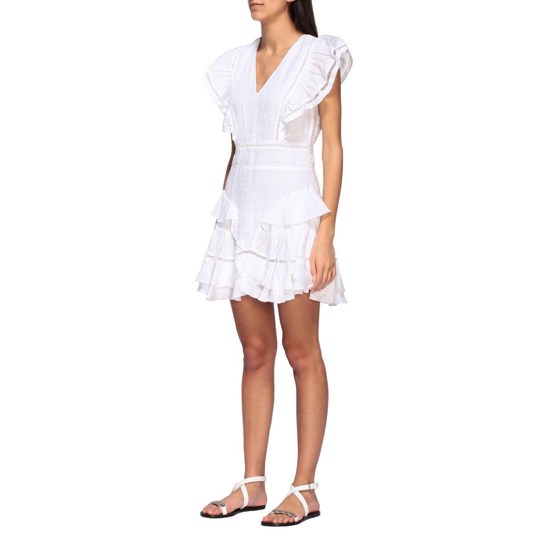 Kleid damen Isabel Marant Etoile weiß 3