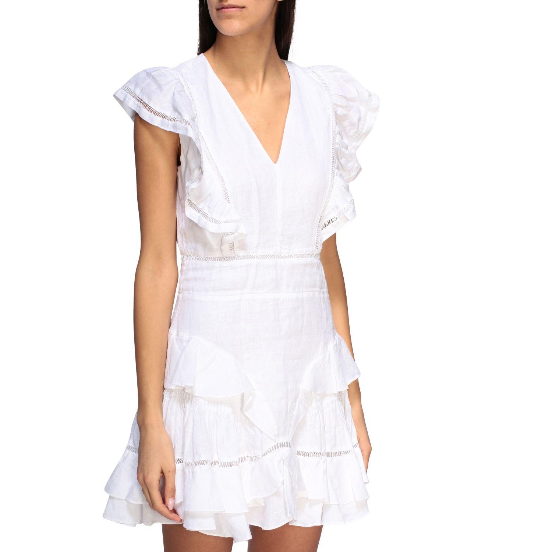 Kleid damen Isabel Marant Etoile weiß 4