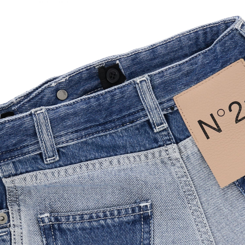 Jeans N° 21: N ° 21 jeans in used two-tone effect denim denim 3