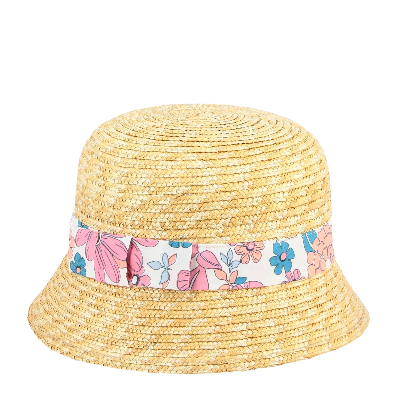 Соломенная шляпа для девочек с цветочным принтом Детское ChloÉ многоцветный 1