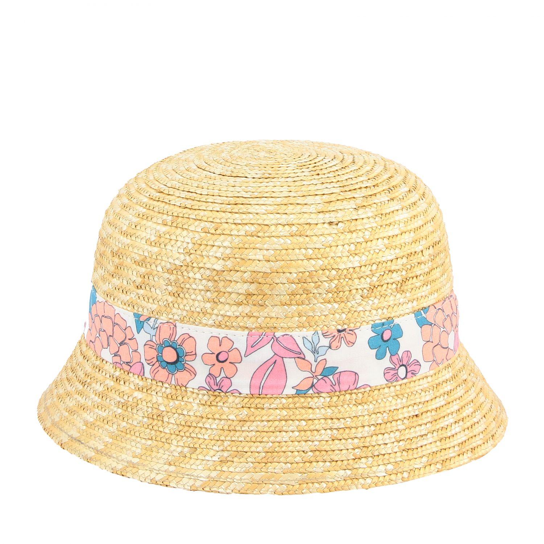 Соломенная шляпа для девочек с цветочным принтом Детское ChloÉ многоцветный 2