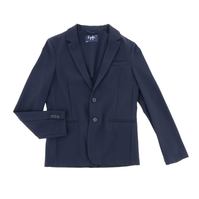 Single-breasted Il Gufo jacket blue 1