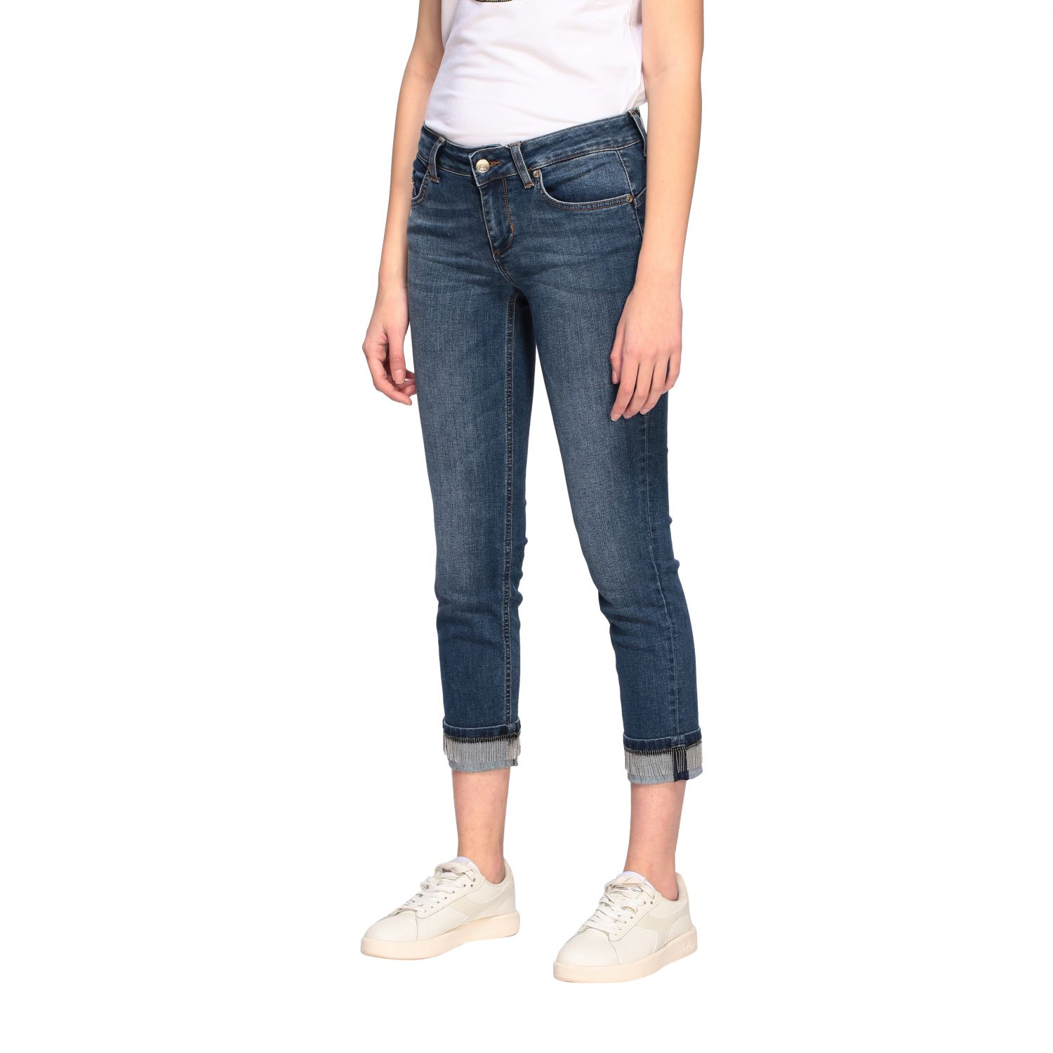 Jeans Liu Jo slim fit a vita bassa denim 4