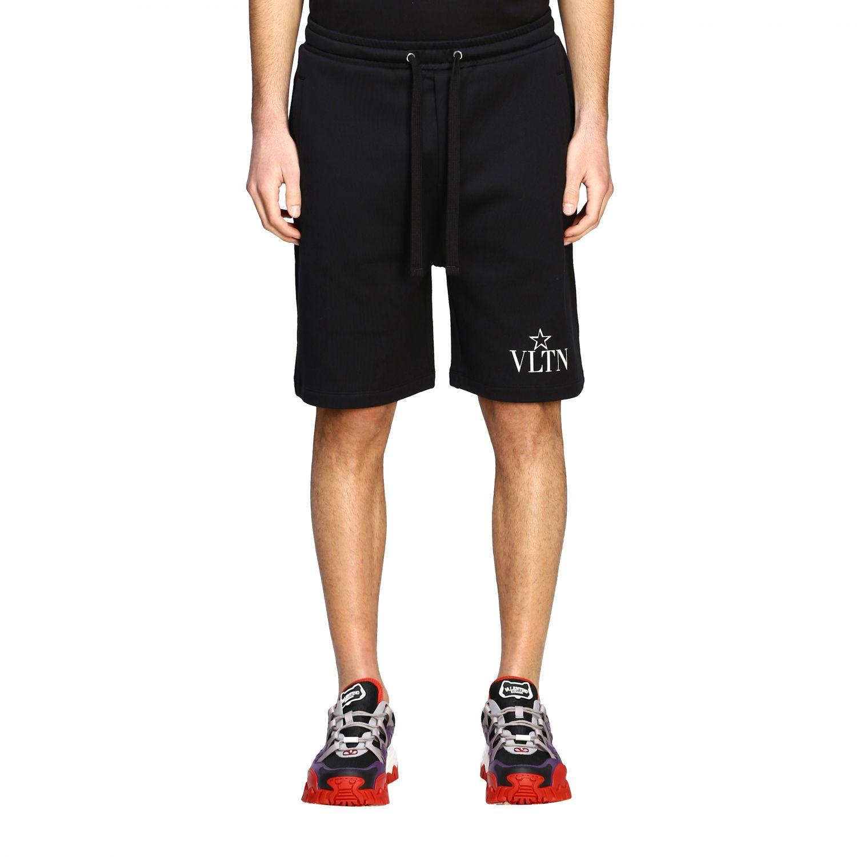 Bermuda Valentino stile jogging con monogramma VLTN nero 1
