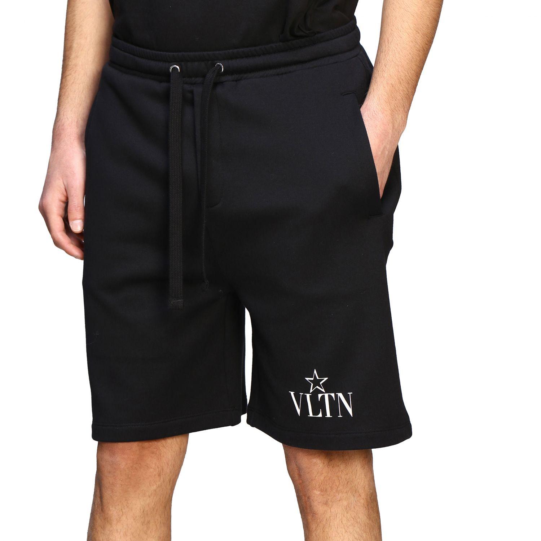 Bermuda Valentino stile jogging con monogramma VLTN nero 5