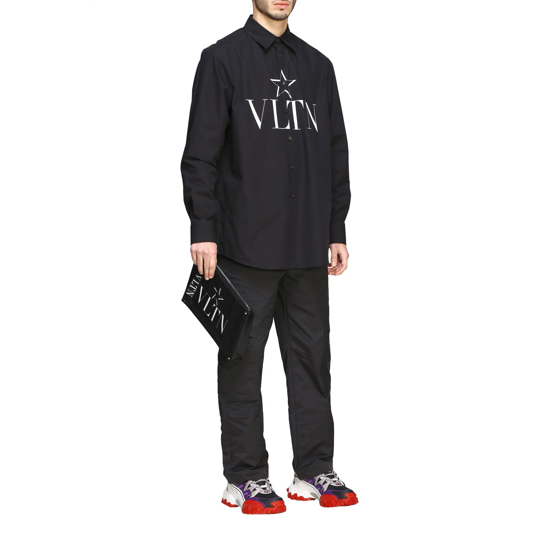 Camicia Valentino con stampa VLTN e stella nero 2