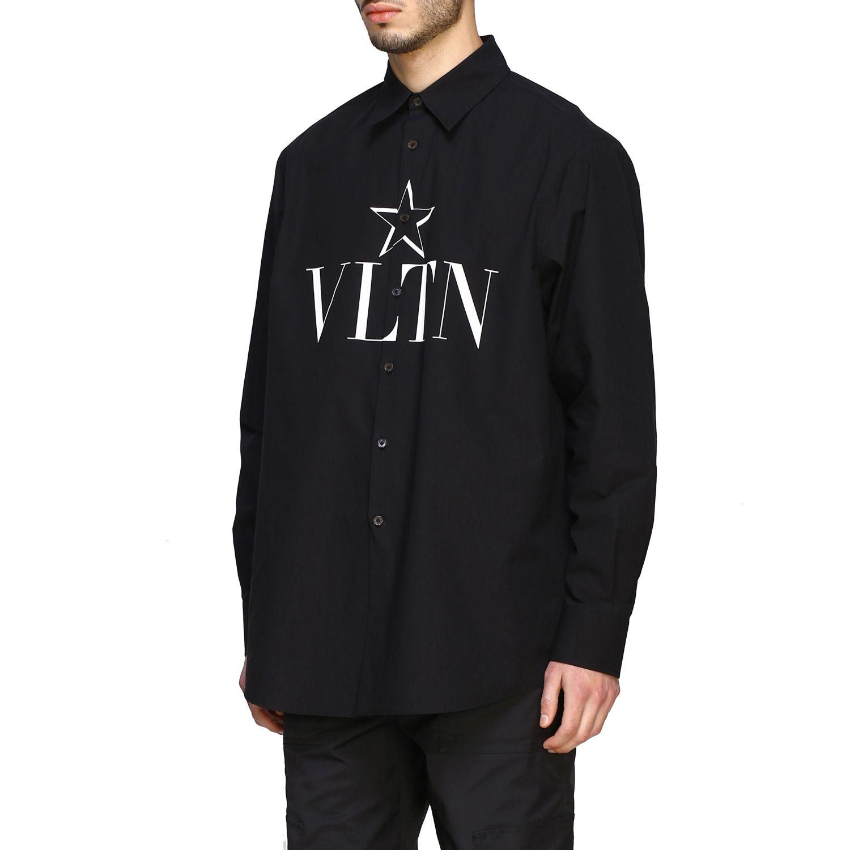 Camicia Valentino con stampa VLTN e stella nero 4