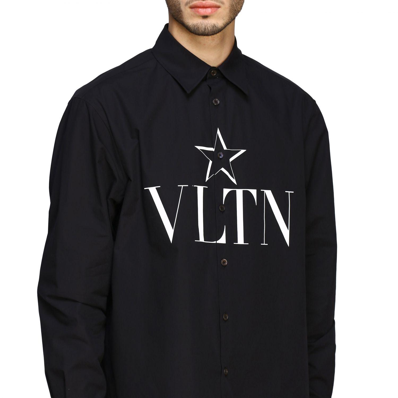 Camicia Valentino con stampa VLTN e stella nero 5