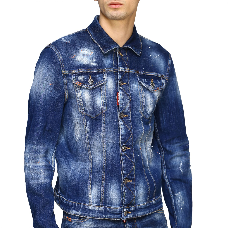 veste jeans dsquared homme