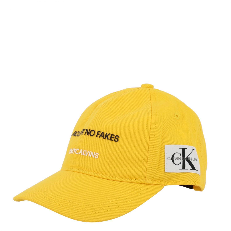Gorro niños Calvin Klein amarillo 1
