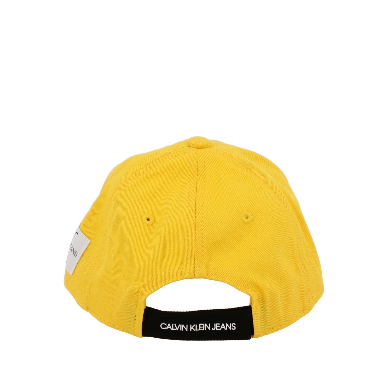 Gorro niños Calvin Klein amarillo 3