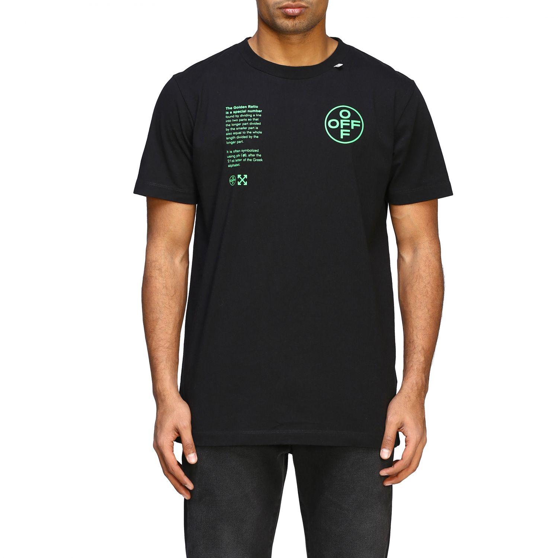 T-shirt Off White con big stampa posteriore nero 1