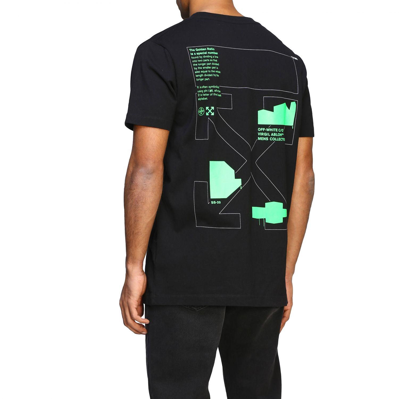 T-shirt Off White con big stampa posteriore nero 3