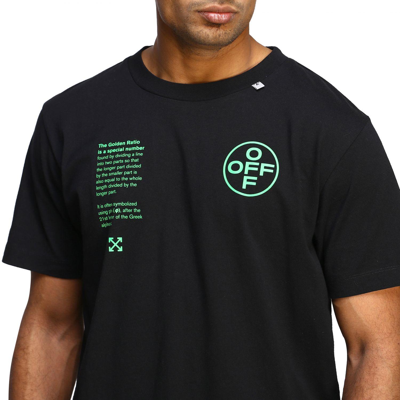 T-shirt Off White con big stampa posteriore nero 5