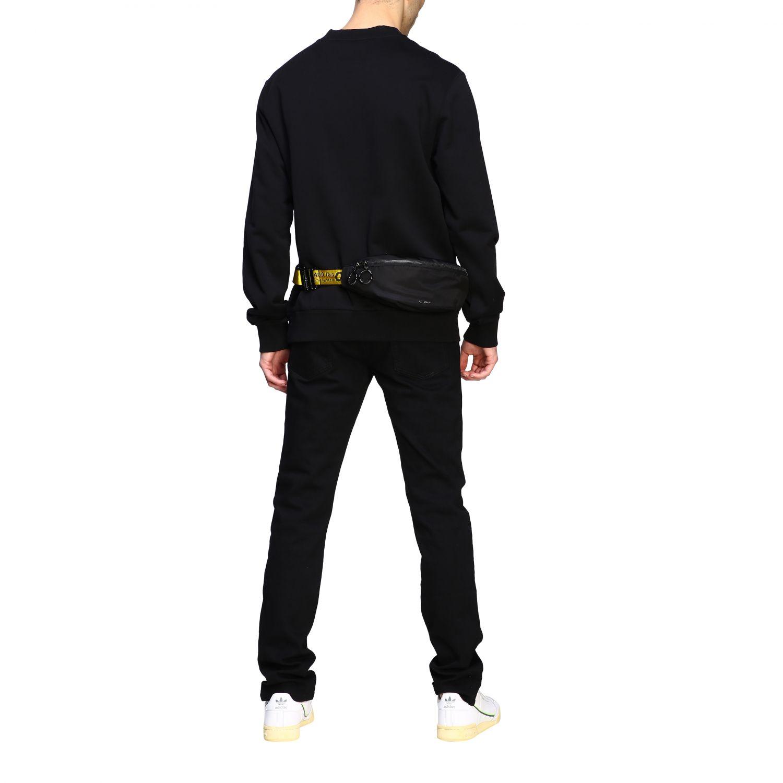 Off White nylon belt bag with metallic logo black 2