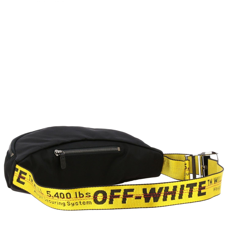 Off White nylon belt bag with metallic logo black 3
