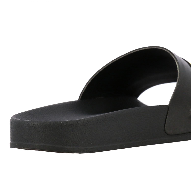 Sandalo Off White in gomma con maxi logo nero 5
