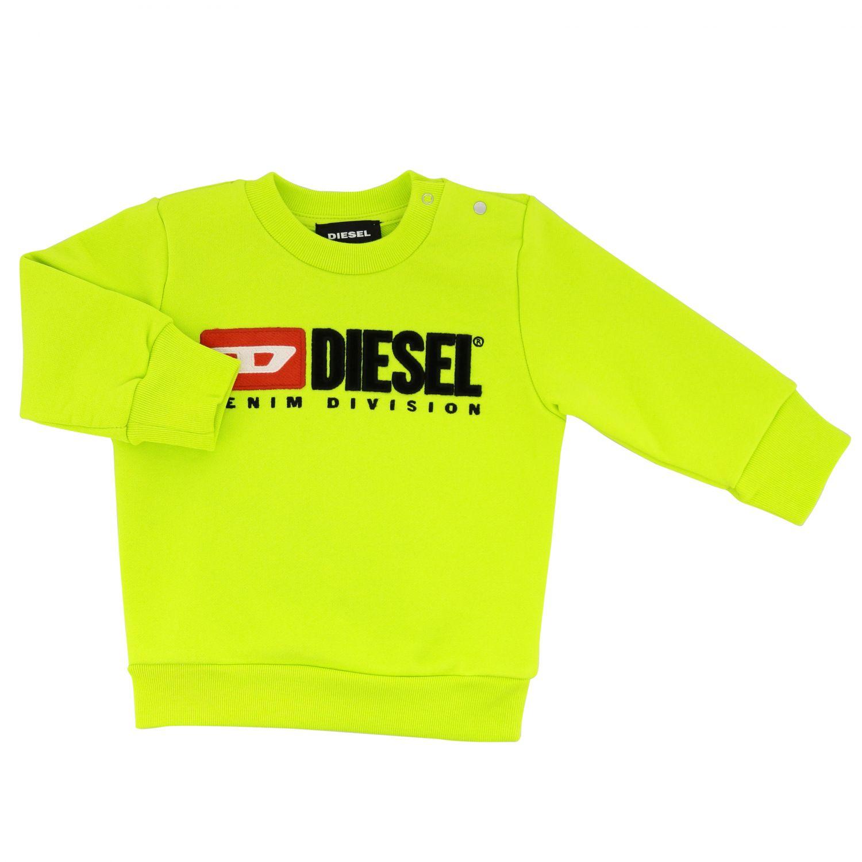 Толстовка с круглым вырезом и логотипом Детское Diesel желтый 1
