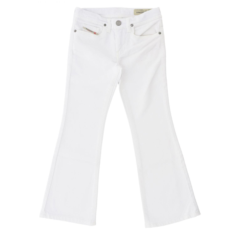 Pantalone Diesel: Pantalone Diesel con fondo ampio bianco 1