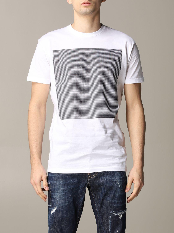 T-shirt homme Dsquared2 blanc 1