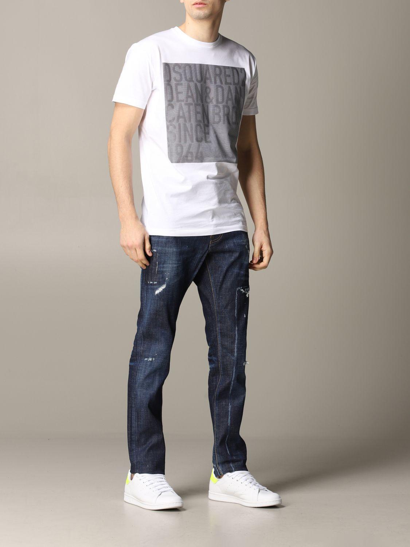 T-shirt homme Dsquared2 blanc 2