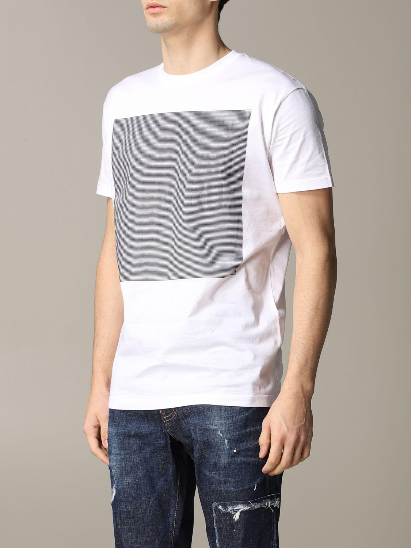 T-shirt homme Dsquared2 blanc 4