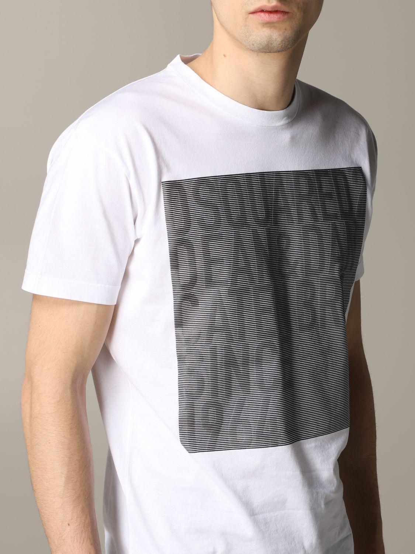 T-shirt homme Dsquared2 blanc 5