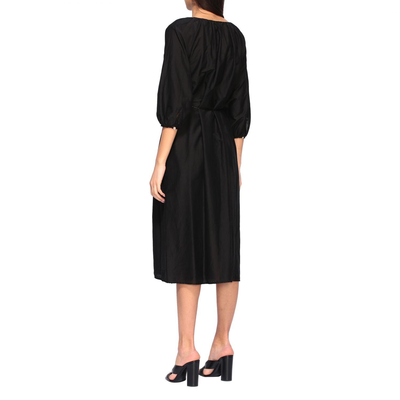 MomonÌ 配腰带长款连衣裙 黑色 2