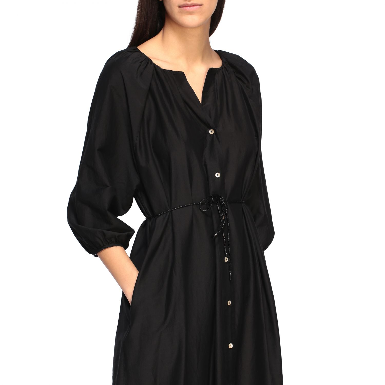 MomonÌ 配腰带长款连衣裙 黑色 4