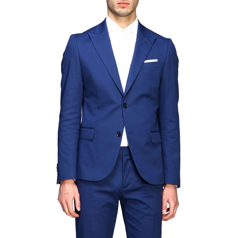 Blazer Daniele Alessandrini: Jacke herren Daniele Alessandrini royal blue 1