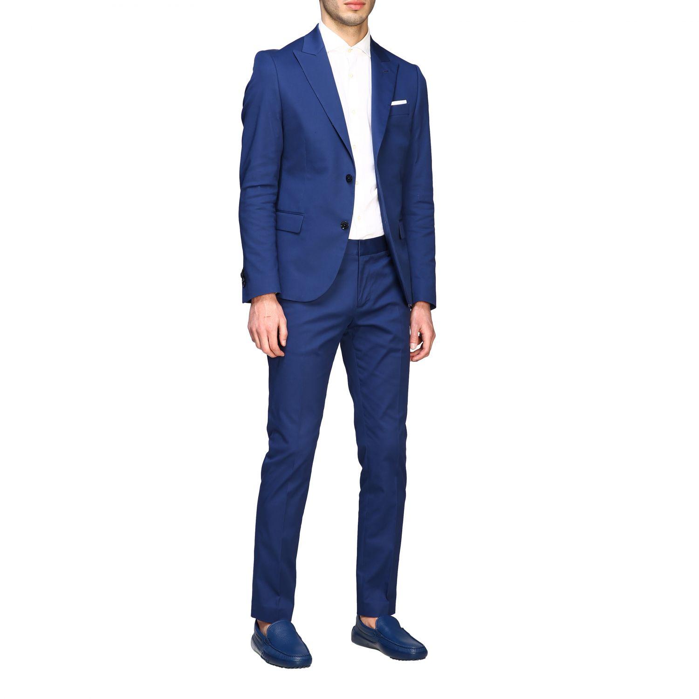 Blazer Daniele Alessandrini: Jacket men Daniele Alessandrini royal blue 2