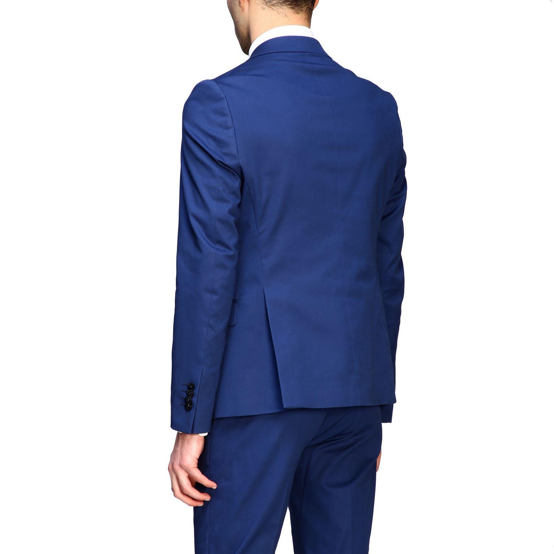 Blazer Daniele Alessandrini: Jacke herren Daniele Alessandrini royal blue 3