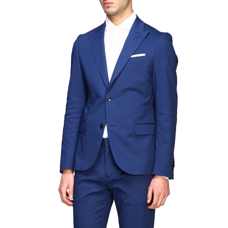 Blazer Daniele Alessandrini: Jacke herren Daniele Alessandrini royal blue 4