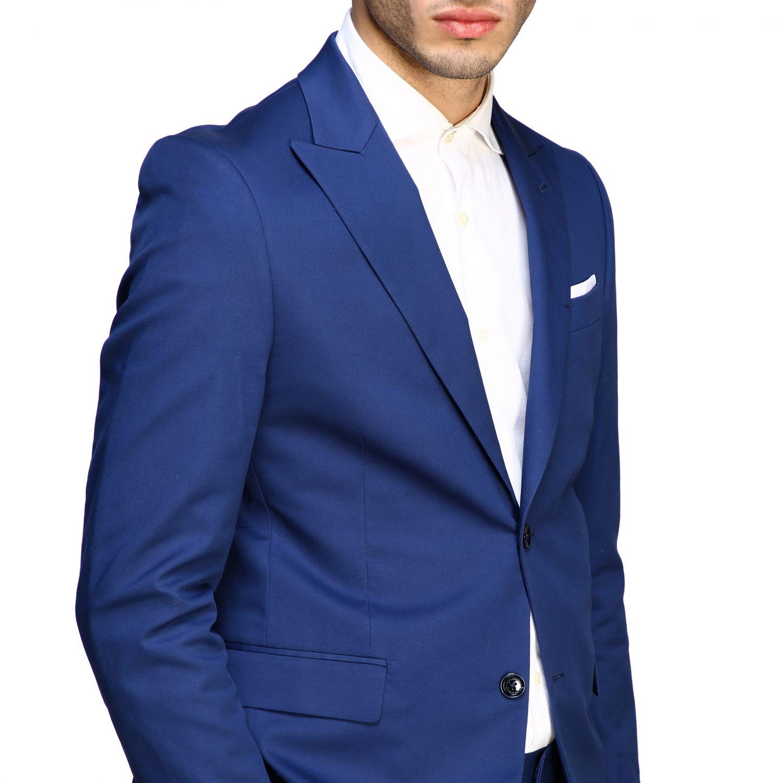 Blazer Daniele Alessandrini: Jacke herren Daniele Alessandrini royal blue 5