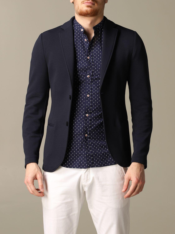 Blazer Daniele Alessandrini: Jacket men Daniele Alessandrini blue 1