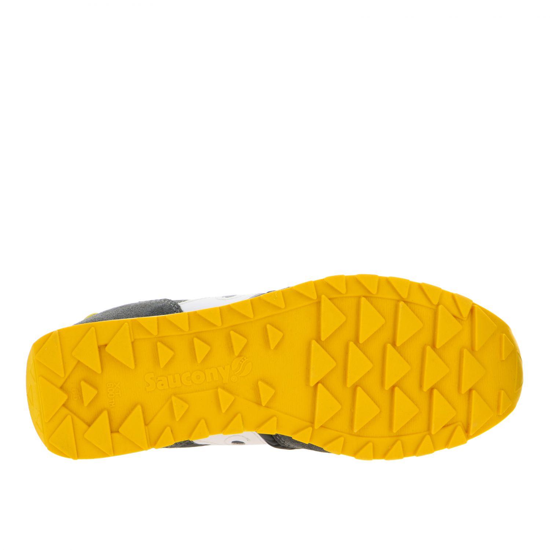 Sneakers Saucony in nylon pelle e camoscio con suola in gomma a righe grigio 6