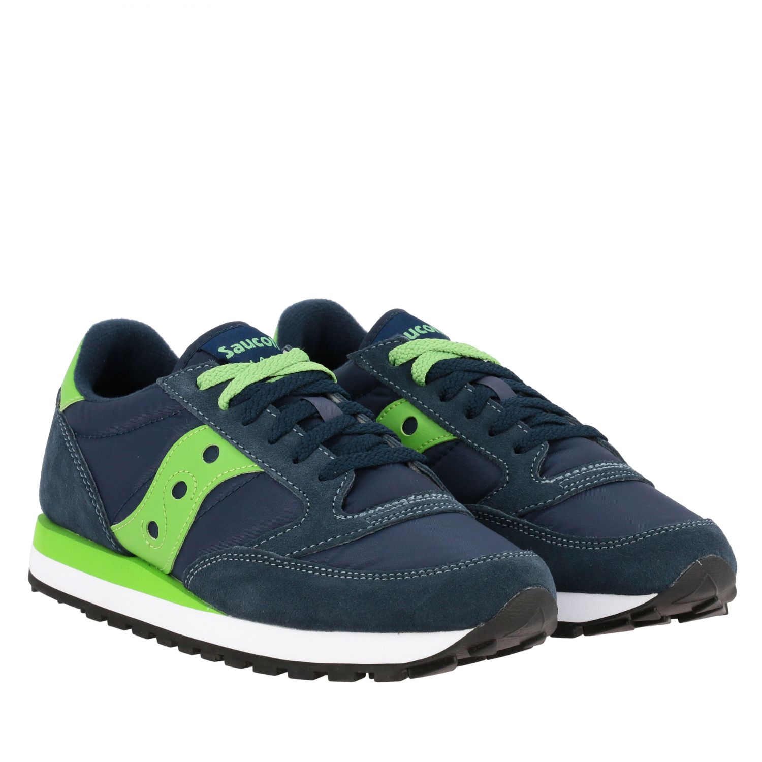 Sneakers Saucony in nylon pelle e camoscio con suola in gomma a righe blue navy 2